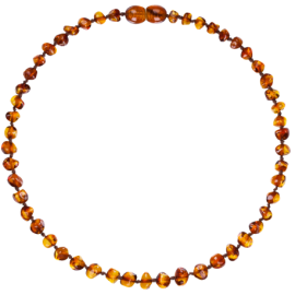 Baroque Cognac Teething Necklace