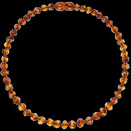 Baroque Cognac Teething Necklace