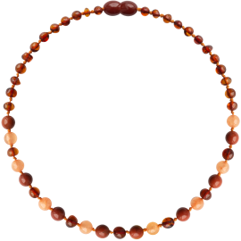 Baroque Cognac/Aventurine/Jasper Teething Necklace
