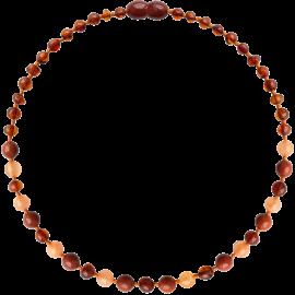 Baroque Cognac/Aventurine/Jasper Teething Necklace