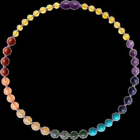 Baroque Lemon/Chakra Gemstones Teething Necklace