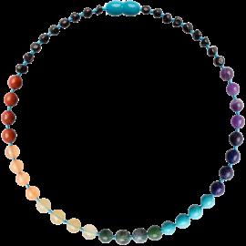 Baroque Cherry/Chakra Gemstones Teething Necklace