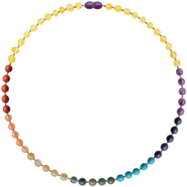 Baroque Chakra Gemstones Adult Necklace