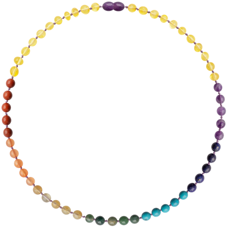 Baroque Chakra Gemstones Adult Necklace