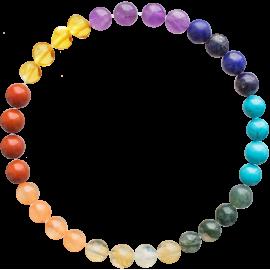Baroque Chakra Gemstones Adult Bracelet