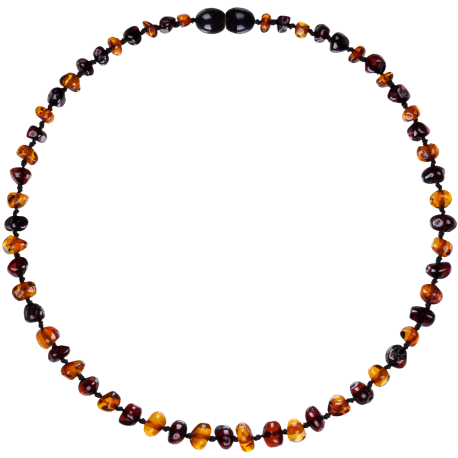 Baroque Cognac/Cherry Teething Necklace
