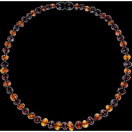 Baroque Cognac/Cherry Teething Necklace