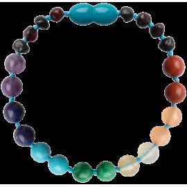 Baroque Cherry and Chakra Gemstones Teething Bracelet