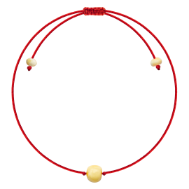Baroque Red String Bracelet