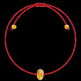 Baroque Red String Lemon amber Bracelet