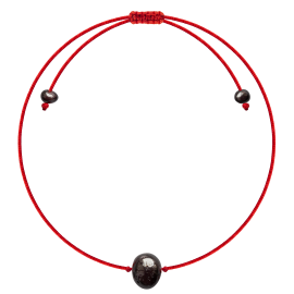 Red String Baroque Cherry amber Bracelet