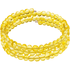 Memory Wire Lemon color Baroque style amber Bracelet