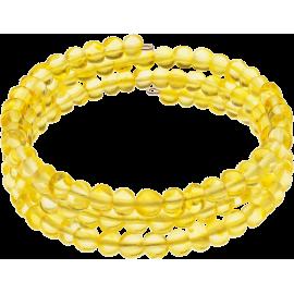 Memory Wire Lemon color Baroque style amber Bracelet
