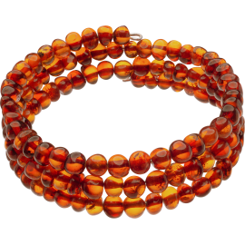 Memory Wire Cognac color Baroque style amber Bracelet